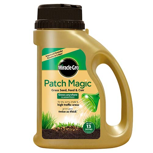 See more information about the Miracle-Gro® Patch Magic® Grass Seed, Feed & Coir 1015g