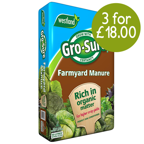 See more information about the Gro-Sure Farmyard Manure  50L