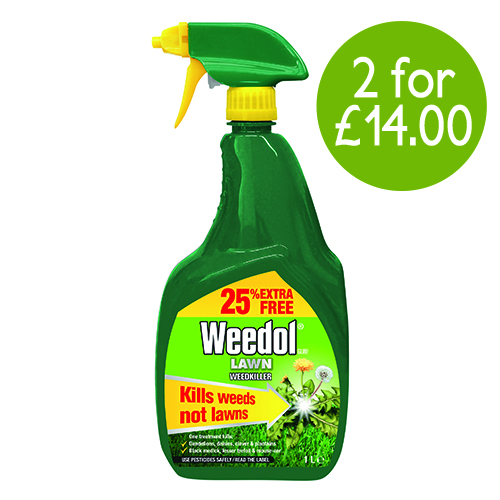 See more information about the Weedol® Gun!™ Lawn Weedkiller RTU 800ml + 25% extra free