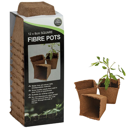 See more information about the 12 8cm Square Fibre Pots