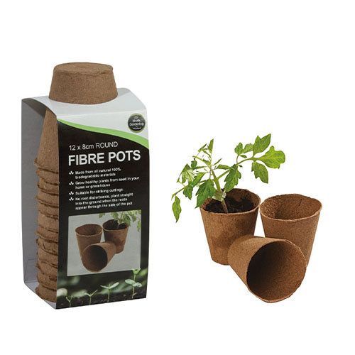 See more information about the 12 8cm Round Fibre Pots