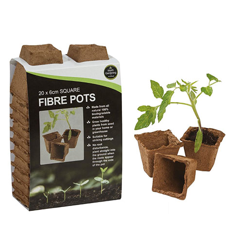 See more information about the 20 6cm Square Fibre Pots