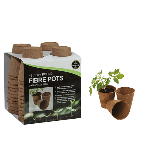 See more information about the 48 8cm Round Fibre Pots
