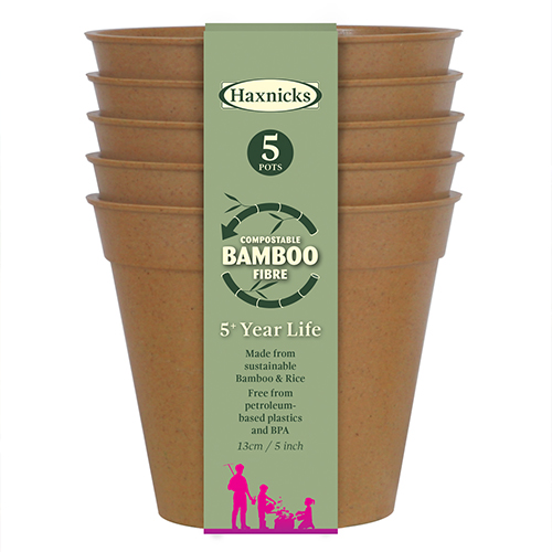 "See more information about the 5"" Terracotta Bamboo Pot - 5 Pack"