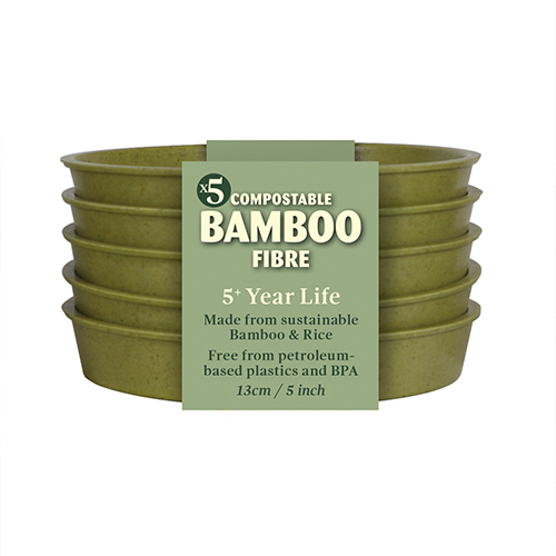 "See more information about the 5"" Sage Green Bamboo Saucer - 5 Pack"